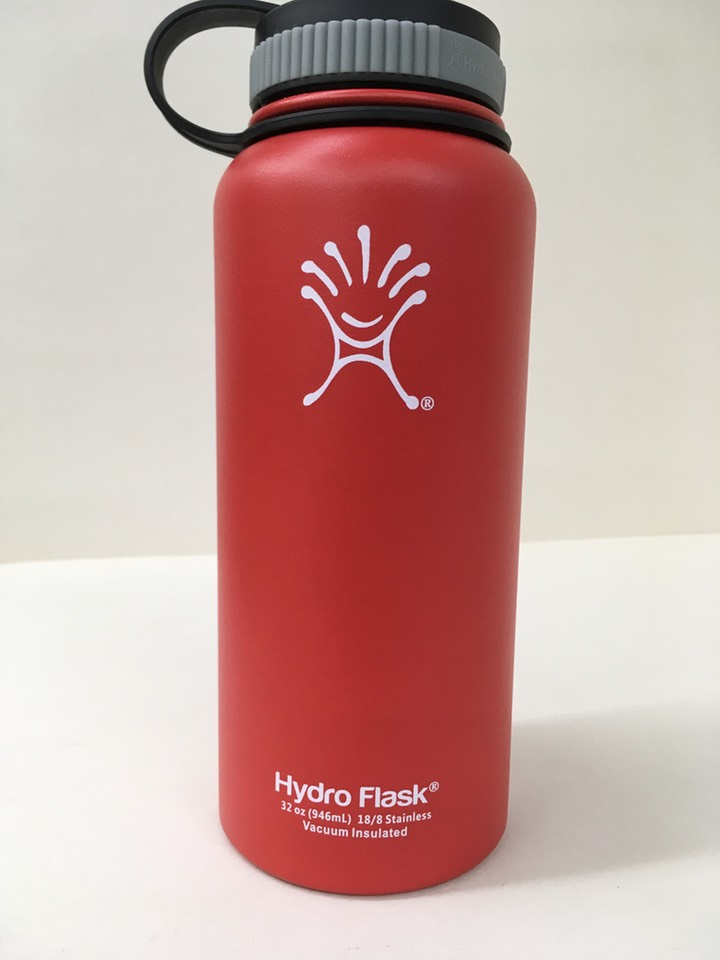 red hydro flask